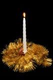 Noël brûlant de bougie Photos libres de droits