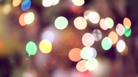 Noël brouillé Defocused allume le détail éclatant clips vidéos
