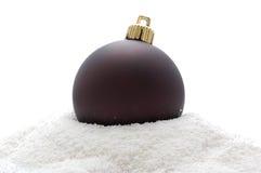 Noël brun de bille profond Photos libres de droits