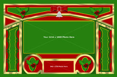 Noël 1 cadre de fond Image stock