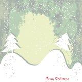 Noël, carte grundy de salutation d'an neuf illustration de vecteur