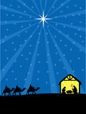 Noël Christian Nativity Scene Photos libres de droits