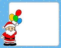 Frontière de Noël de Santa Claus photo stock