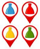 Noël coloré de bande dessinée présente l'ensemble de marqueur d'emplacement Illustration de Vecteur