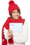 Noël, concept de courrier d'hiver Image stock