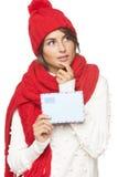 Noël, concept de courrier d'hiver Image libre de droits