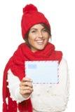 Noël, concept de courrier d'hiver Images stock