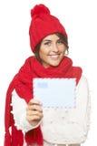 Noël, concept de courrier d'hiver Photos libres de droits