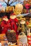 Noël a décoré l'affichage de fenêtre à Aix-la-Chapelle, Allemagne Photo stock