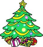 Noël a décoré l'arbre illustration libre de droits