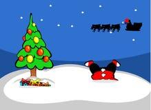 Noël a décoré l'arbre illustration de vecteur