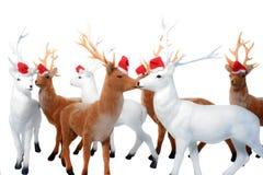 Noël d'élans. Image libre de droits