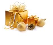 Noël d'or photographie stock libre de droits