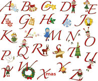 Noël d'alphabet Images libres de droits