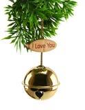 Noël d'amour de cloche Image libre de droits