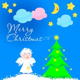 Noël d'ange illustration de vecteur