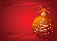 Noël d'arbre de bille illustration stock