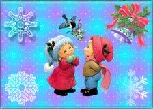 Noël d'art abstrait Photo libre de droits