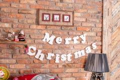 Noël d'inscription de fond Joyeux photo libre de droits