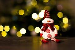 Noël d'ornamentSnowman de botte de Santa de Noël ornimant Photo libre de droits