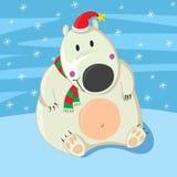 Noël d'ours blanc Photo libre de droits