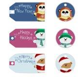 Noël d'ours d'étiquette Images stock