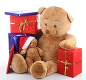 Noël d'ours de nounours Photos stock