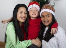 Noël d'ouverture de famille Photo libre de droits