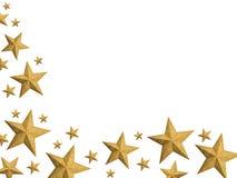 Noël d'or stars le flot - d'isolement Images libres de droits