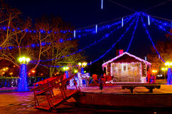 Noël dans Burgas Image stock