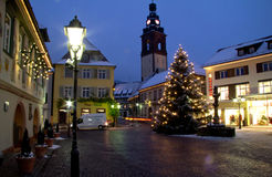Noël dans Haslach, Allemagne Photos stock