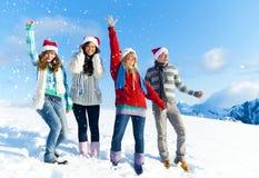 Noël dans la neige Photographie stock libre de droits