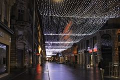 Noël dans le capitol Toulouse photo stock