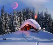 Noël dans les Carpathiens Images libres de droits