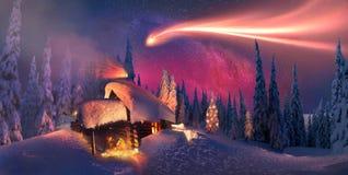 Noël dans les Carpathiens Photographie stock libre de droits