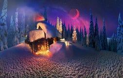 Noël dans les Carpathiens Photographie stock