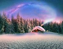 Noël dans les Carpathiens Photo libre de droits