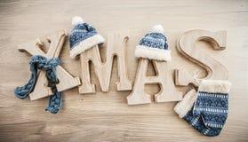 Noël dans les lettres rustiques Images libres de droits