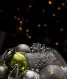 Noël dans une cuvette de poisson rouge photo libre de droits