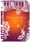 Noël de 19 cartes joyeux illustration libre de droits