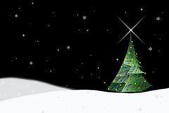 Noël de 2 arbres Images libres de droits