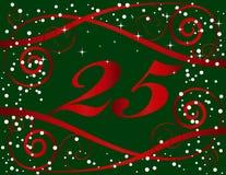 Noël de 25 fonds Photo libre de droits