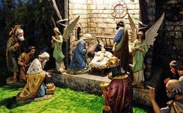 Noël de Bethlehem - en bois découpé photos libres de droits
