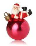 Noël de bille au-dessus de reposer Santa Image stock