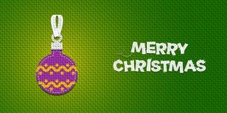 Noël de bille brillant illustration stock