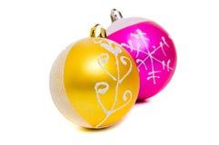 Noël de billes colore deux brillants Photos libres de droits