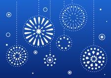 Noël de bleu de billes Photos libres de droits