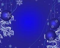 Noël de bleu de fond Photos stock