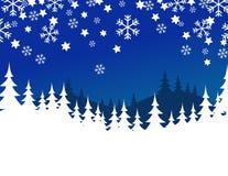 Noël de bleu de fond Image libre de droits