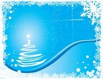 Noël de bleu de fond Photos libres de droits